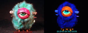 Alien Cyclops Hopper by Undead Ed Glows in the Dar