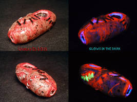 Stitches and Staples Pipe by Undead Ed Glows in th by Undead-Art