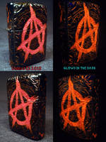 Anarchy Zippo by Undead Ed Glows in the Dark 2 by Undead-Art