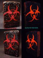 BioHazard Zippo by Undead Ed Glows in the Dark 2 by Undead-Art