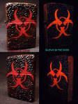 BioHazard Zippo by Undead Ed Glows in the Dark 2