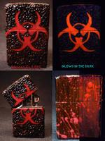 BioHazard Zippo by Undead Ed Glows in the Dark 1 by Undead-Art