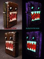 Domo 2.0 Zippo by Undead Ed Glows in the Dark 2 by Undead-Art
