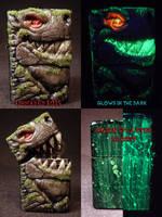 Gargoyle 2.0 Zippo by Undead Ed Glows in the Dark  by Undead-Art