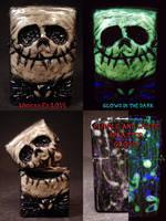 Jack Skellington Zippo by Undead Ed Glows in the D by Undead-Art