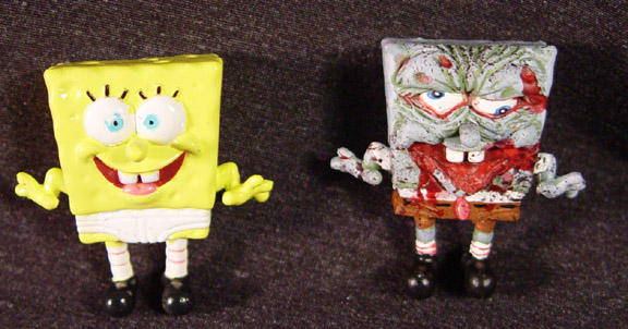 Sponge Bob SquarePaints ZOMBIE by Undead-Art
