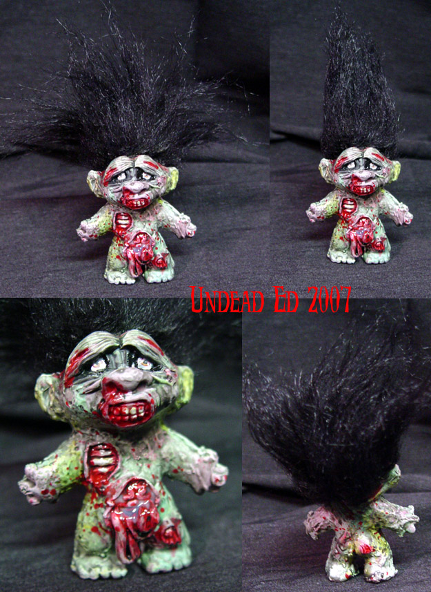 Zombie Troll converted doll by Undead-Art