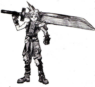 Erm, Cloud from FF7 by whitetigerx