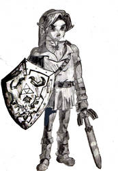 Adult Link from Zelda by whitetigerx