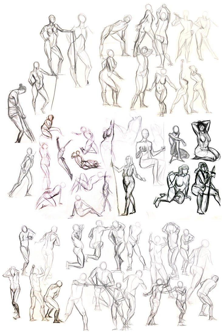 Life Drawing - Gestures Again by Wanderer001