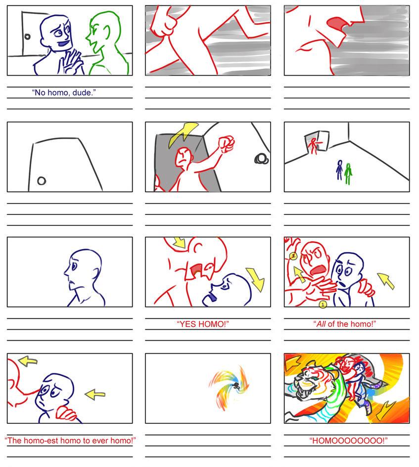 No Homo - Storyboard by Wanderer001