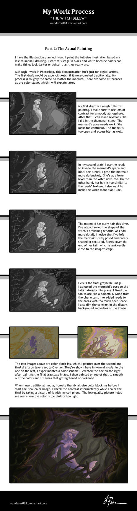 My Process-The Witch Below P2 by Wanderer001
