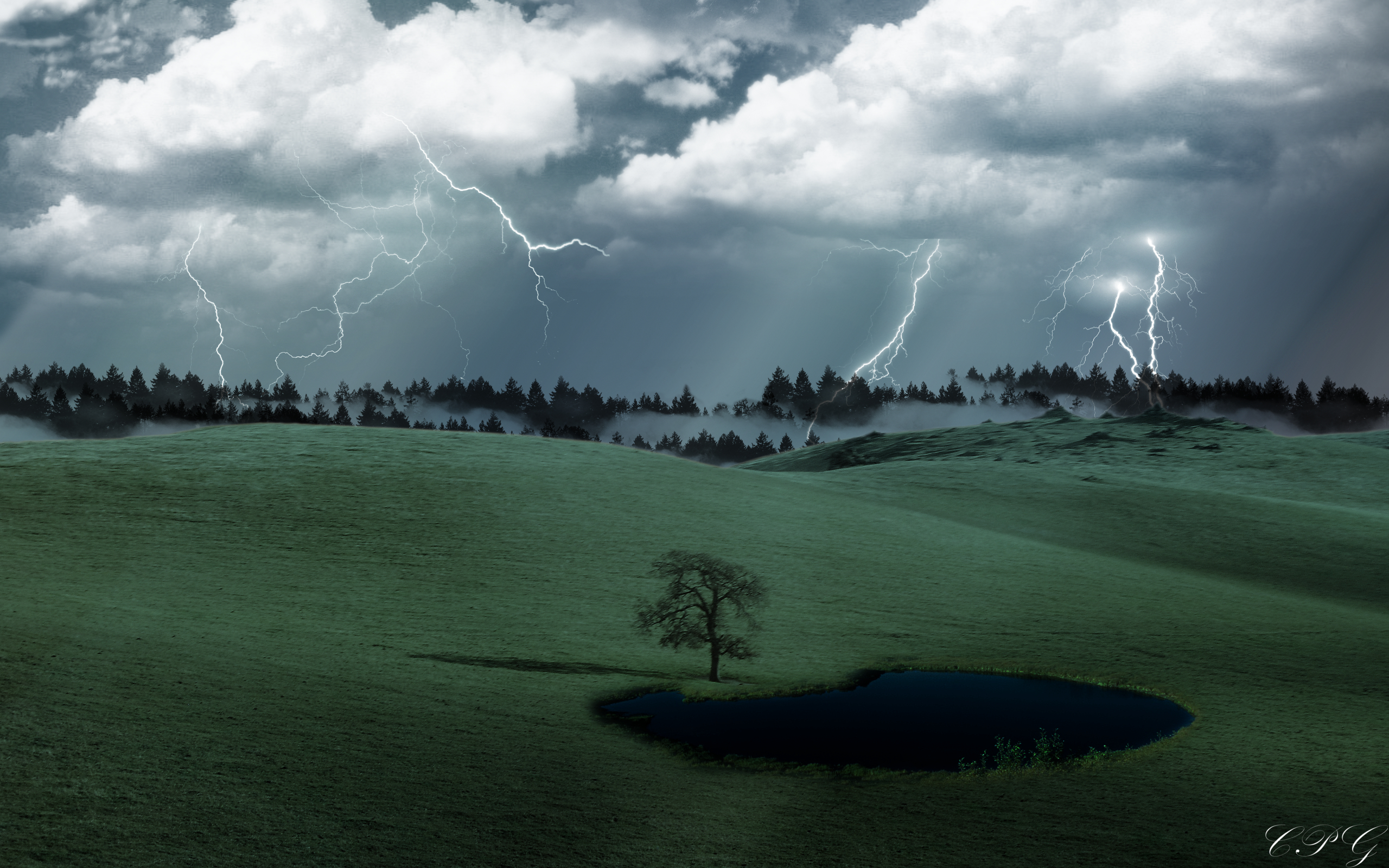 Stormy Lone Tree by gunnertracker on deviantART