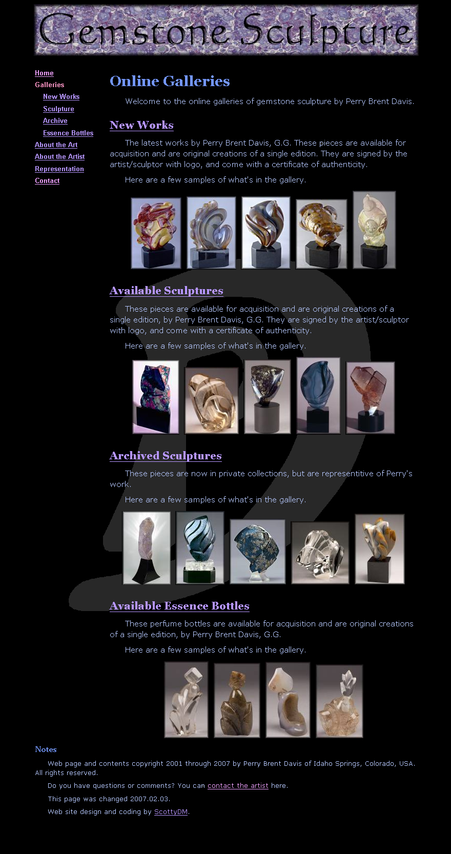 Sculpture Site, basic page by ScottyDM