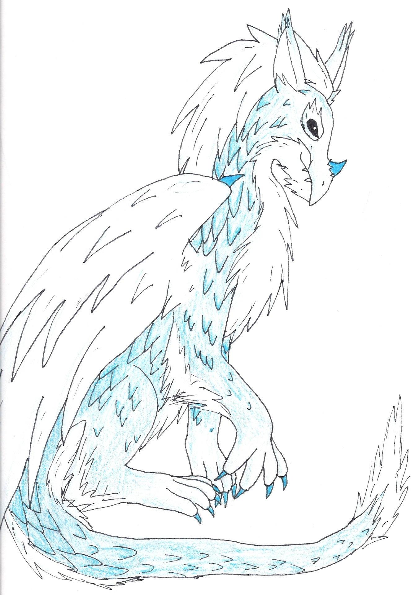 Ice Dragon by ShikaTheFox on deviantART