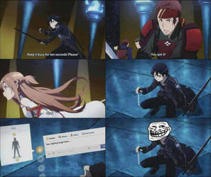 Sword Art Online - Troll Kirito :'3 by NatalyTheHedgehog1