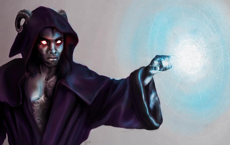 Korvas Tiefling Wizard 2 By Kunibob On Deviantart
