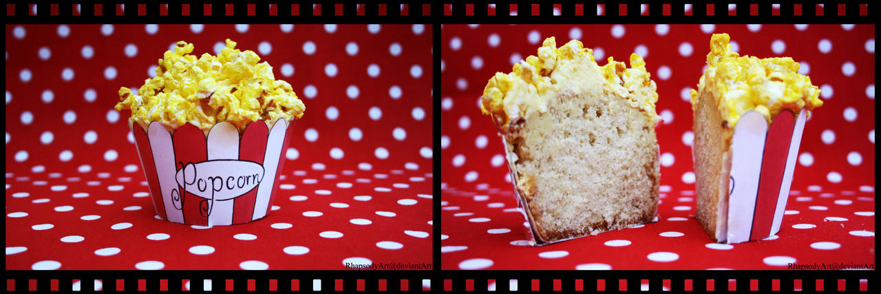 Popcorn cupcake by RhapsodyArt