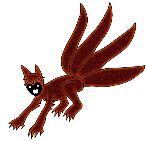 Chibi Naruto Kyubi- 4 tails - by Kairith on DeviantArt