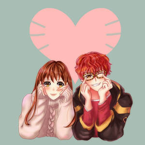 Mystic Messenger: MC and 707 Valentine 2018