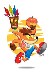 Crash Bandicoot by Slarkero