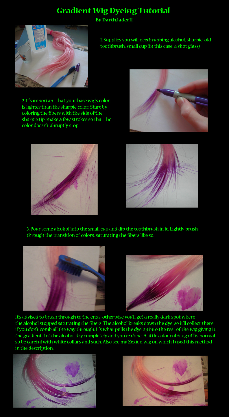 Gradient Wig Dyeing Cosplay Demo by DarthJader11