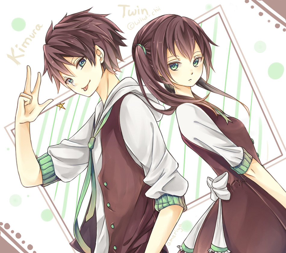 Twins One With Cat Ears Anime