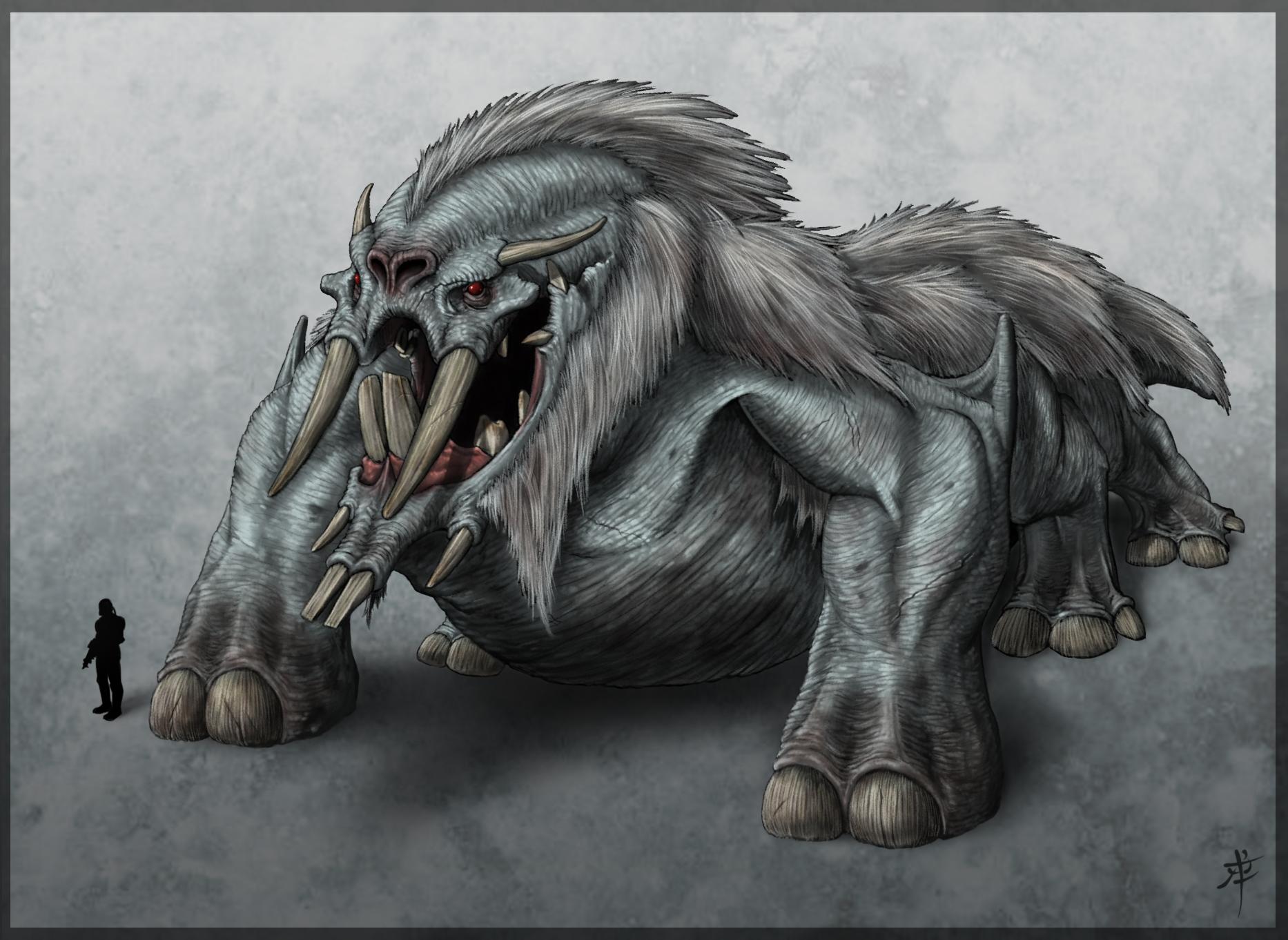 Mountain Behemoth by rob-powell
