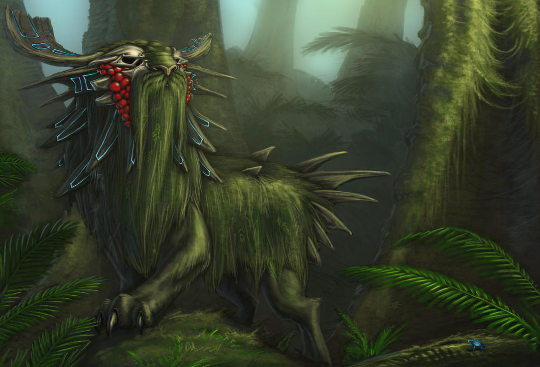 Ancient Rainforest Guardian by rpowell77