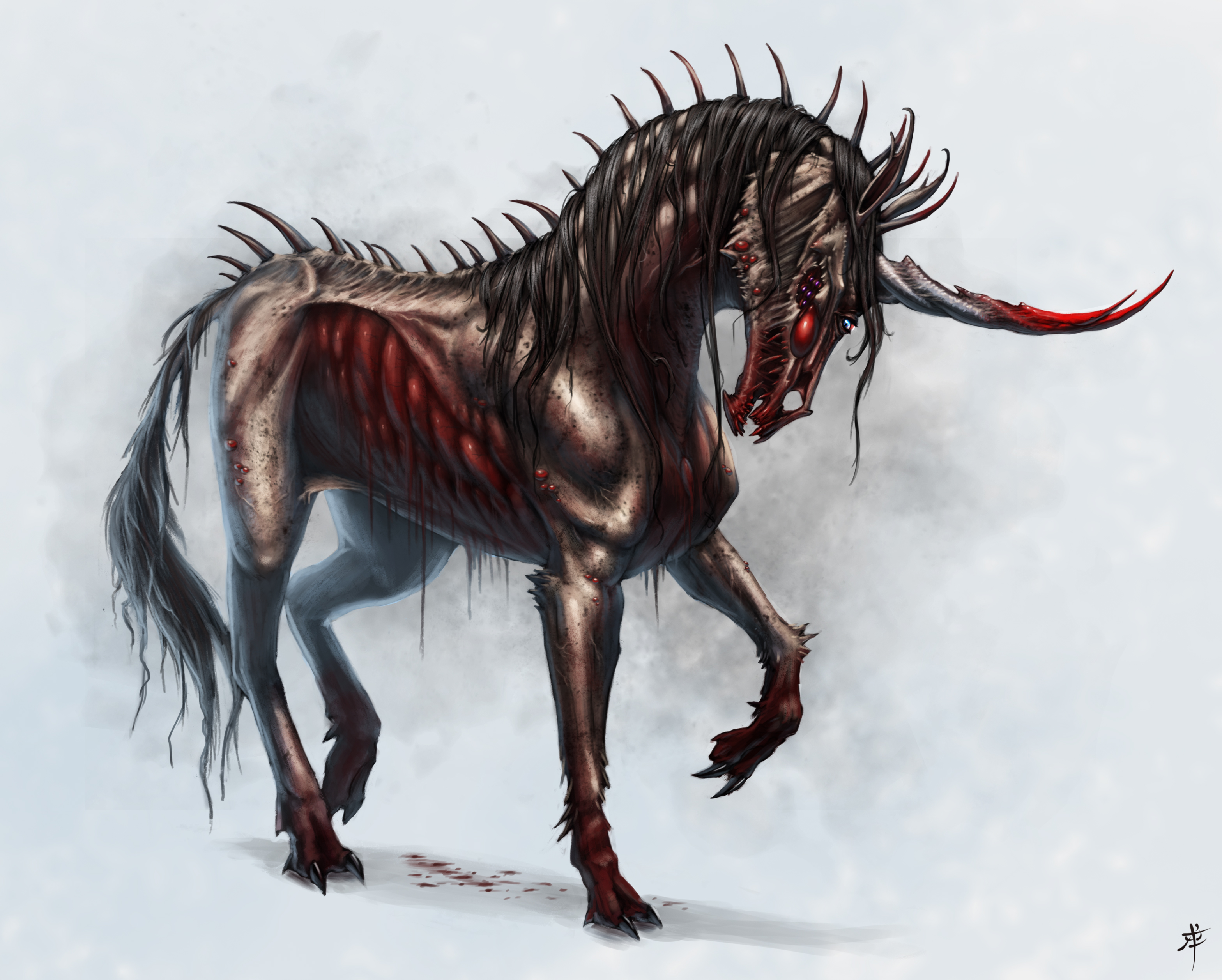 demented unicorn by rob powell on deviantart