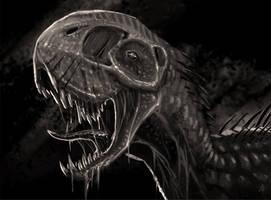 Zombie Dinosaur by rob-powell