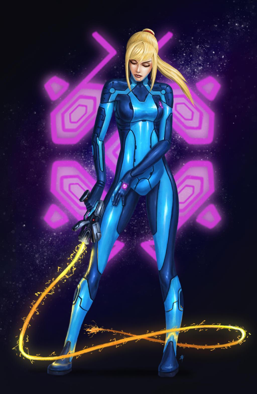 Samus Aran (Zero-suit) by rob-powell