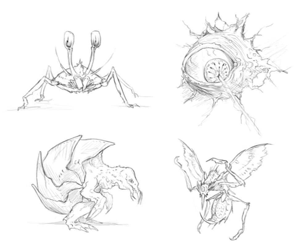 METROID enemies... by rpowell77