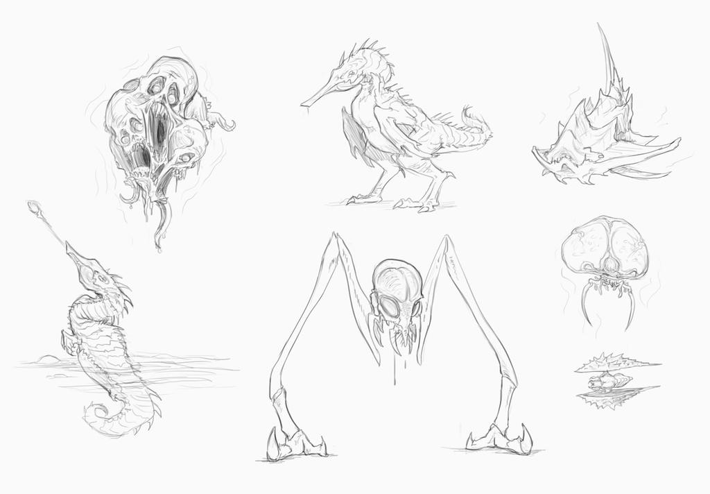 Moar Metroid Creatures by rob-powell
