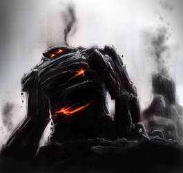 Coal Golem by rob-powell