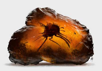 Black Amber Specimen by rob-powell