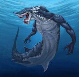 Helicoprion Mermaid by rob-powell