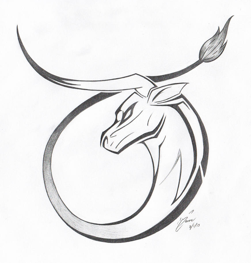 Taurus by Magnificent-ArseholeTaurus Bull Drawing