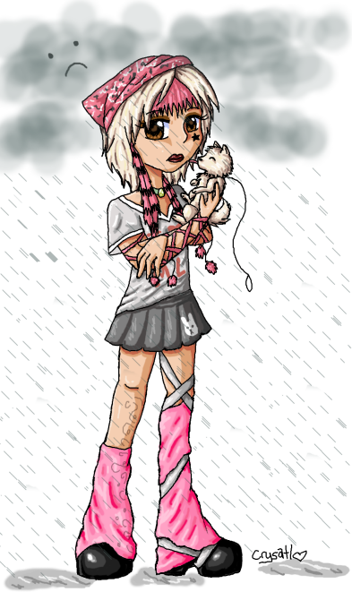 Puppy Kisses In The Rain by Crysums