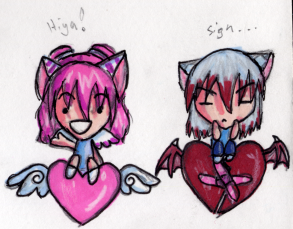 Chibi Hearts by Crysums