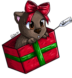 Christmas Wombat by Crysums