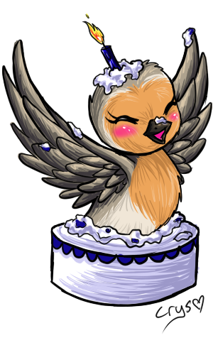 Birdie Cake by Crysums