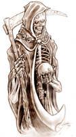Grim Reaper Tattoo Design by TheMacRat