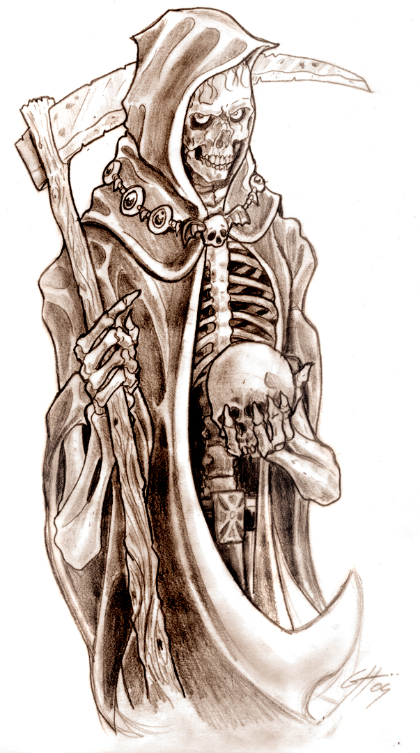 Death Grim Reaper Tattoo Designs
