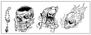 Skull N Bones Tattoo Flash