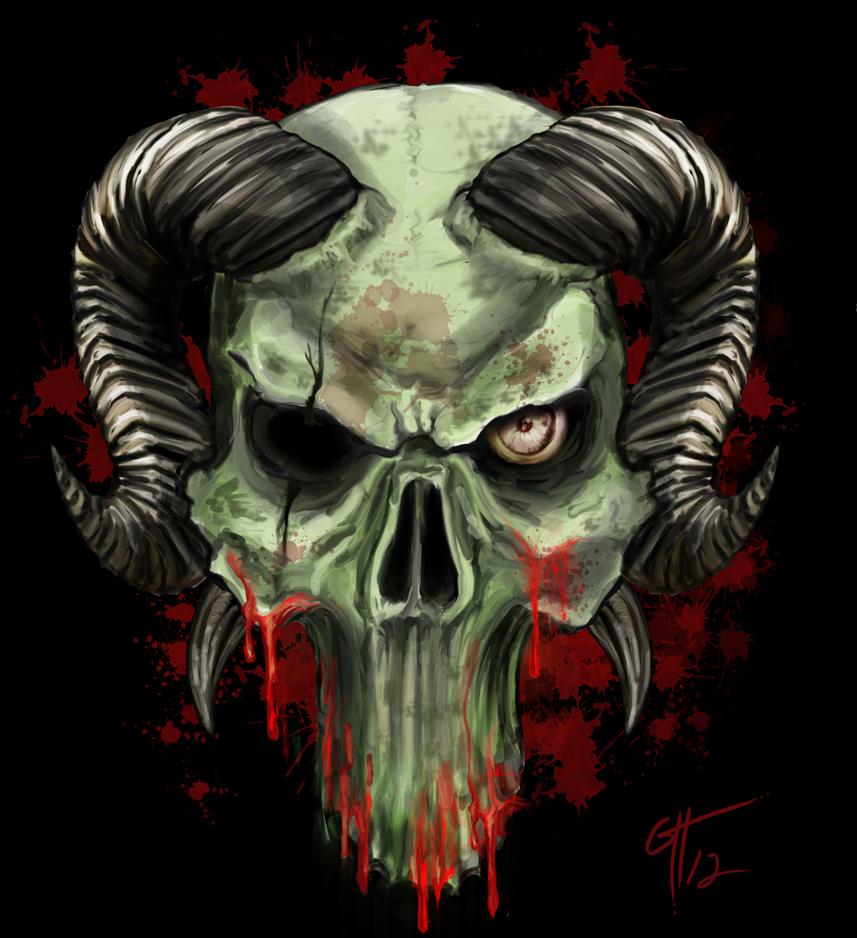Demon Skull With Horns Tattoo | www.imgkid.com - The Image ...