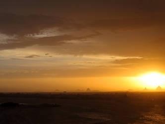sunset on glass housemountain2