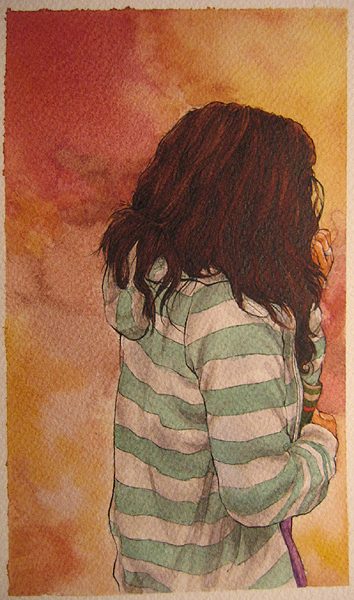 her gorgeous mane - watercolor by hyperphagia