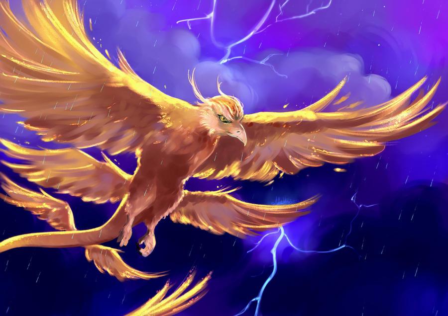 Le Bestiaire Trouvé par Sheldon (ft de nombreux artistes de DA)  Thunderbird_by_mellodee-das8ncd