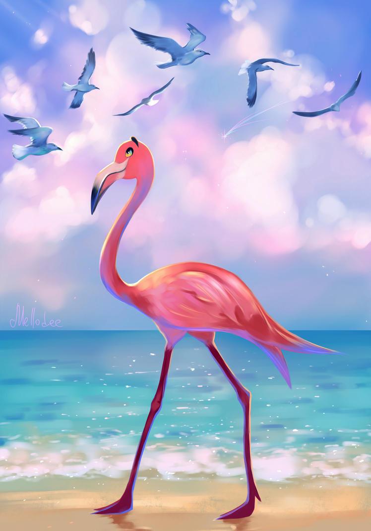 Flamingo by Mellodee